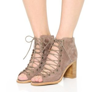 Barely Worn Jeffrey Campbell Lace Up Booties